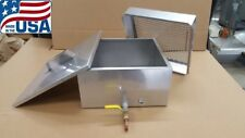 Maple Syrup Flat Filter Pan w/valve, plug, filter set 20 ga stainless evaporator