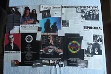 SISTERS OF MERCY - MAGAZINE CUTTINGS COLLECTION - PHOTOS, CLIPPINGS ARTICLES X35
