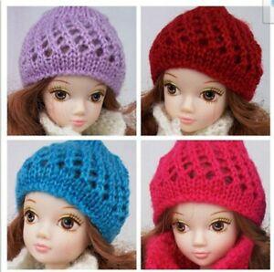 Doll Accessories Warm Winter Headwear Hairwear Woven Knitting Hat For 1/6 Doll