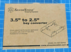 "SilverStone 3.5"" to 2.5"" Internal Hard Drive Bay Converter - Nickel-Coated"