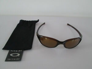 OAKLEY MEN'S SUNGLASSES FIVES BROWN GOLD O LOGO 03-422 49 20 WITH POUCH BAG