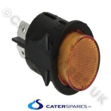 Ambra Neon Rotondo 25mm Circolare a Scatto Pulsante Interruttore On Off