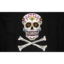 New listing Pirate Sugar Skull Flag Banner Sign 3' x 5' Foot Polyester Grommets