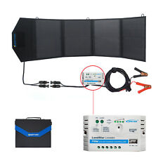 ACOPOWER 12V 50 Watt Foldable Solar Panel Kit Portable Solar Charger Suitcase