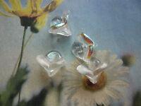 GLASPERLEN – traumhafte GLOCKEN kristall verspiegelt - ca. 8 x 12 mm (5) Engel