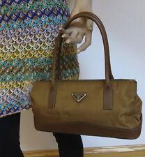 PRADA Mini Handbag Nylon & Leather Bag -100% Authentic