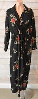 Pink Diamond Dress Sz Medium 10 12 Black Red White Floral Tunic Maxi