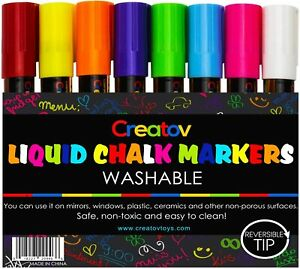 Liquid Chalk Markers Chalkboard Pens - 8 Pack Window Marker Chalk Pens