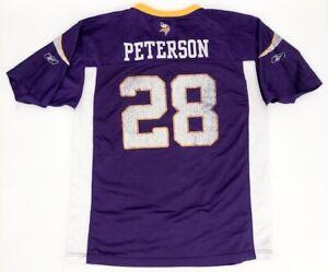 Minnesota Vikings Adrian Peterson Jersey #28 NFL Team Apparel Reebok Youth XL
