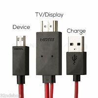 Micro USB 11 Pin MHL - HDMI 1080P HDTV Adaptor Cable Lead (Samsung Compatible)