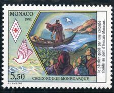 STAMP / TIMBRE DE MONACO N° 1798 ** CROIX ROUGE / VUE DE SAINTE DEVOTE