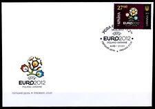 Fußball. EM-2012, Ukraine-Polen. Veranstaltungsemblem. FDC. Ukraine 2012