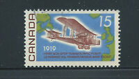 Canada #494ii(4) 1969 15 cent Vickers Vimy, & Map of Atlantic LF Used CV$5.00