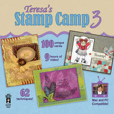 TERESA'S STAMP CAMP #3 DVD-Cardmaking-Stamping Techniques-Paper Craft Card Ideas
