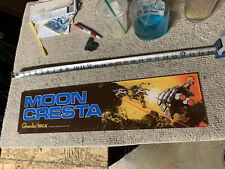 "24-6"". ORIGINAL Moon Cresta PLEXI sign marquee ARCADE  GAME PART"