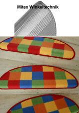 Treppenmatte - Stufenmatte PATCHWORK MULTI halbrund 65x23 cm Treppe NEU