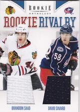 11-12 Panini Rookie Anthology Brandon Saad David Savard Jersey Rivalry