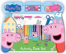 Peppa Pig Activity Desk Set -Crayons Felt Tips Pencils