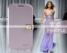 Ailun Luxury Side Flip Wallet Case for Samsung Galaxy S3 i9300 / i9305  - Purple