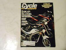 MAY 1989 CYCLE MAGAZINE,BLASTERS SUZUKI GS500,YAMAHA RADIAN,KAWASAKI EX500,AMA