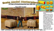 TARP COVERED-PALLETED SACKS/BAGS (2pcs) Scale Model Masterpieces/HO/HOn3/HOn30