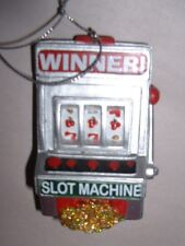 "3"" Resin Slot Machine Christmas Ornament"