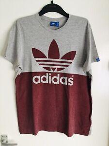 Mens Adidas T Shirt Grey Size L Large