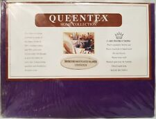 Queentex Luxurious Poly Cotton Double Bed Valance Bedskirt - Purple Bed Skirt