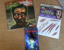 Zombie  decal,  keychain, tattoos funpack