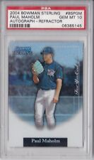 2004 Bowman Sterling Refractor Paul Maholm Rookie Graded PSA 10