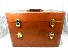Schöner & praktischer 3 - teiliger vintage MÄDLER Leder  Koffer 45 x 30 x 30 cm