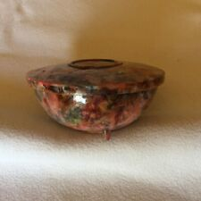 Vintage Plastic Multi-coloured Shaving Soap Dish