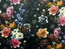 Less than 1 Metre Velvet Floral Craft Fabrics