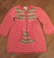 Baby Girl Savannah Pink Stripe Fair Isle Sweater Dress 12 Months