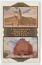 CALEDONIAN RAILWAY COMPANY'S HOTELS: Advertising multiview postcard (C14312)