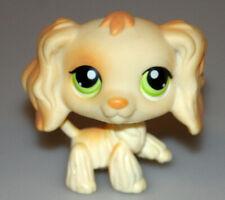 Littlest Pet Shop Beige Cocker Spaniel Dog Green Eyes #347 Retired 2007