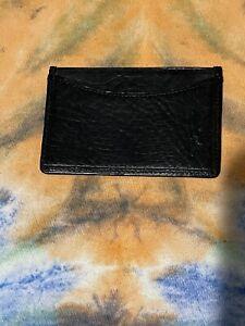 Polo Ralph Lauren Black Leather Wallet Slim Front Pocket Card Holder