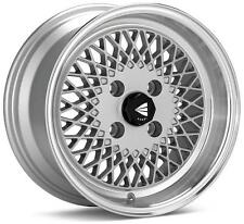Enkei 92 Classic Line 15x7 38mm Offset 4x100 Bolt Pattern Silver Wheel