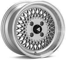 Enkei 92 Classic Line 15x7 38mm Offset 4x100 Bolt Pattern Silver Wheel