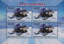 YAMAHA FX NYTRO RMX Snowmobile Vehicle Stamp Sheet (2012 Burundi)