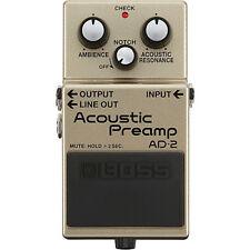 BOSS AD-2 Acoustic Preamp NEW Guitar Effects Pedal w/ FREE PICK
