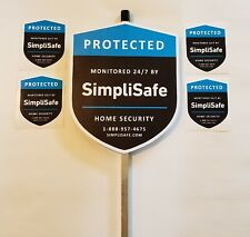 2 SimpliSafe Yard Signs with 6 Decals Stickers - Home Security Alarm
