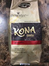 Hawaiian Gold Reserve Kona Blend Whole Bean Coffee Medium Roast, 2 Pounds