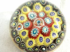 Vintage Glass Magnum Paperweight - Dated 1954 - Concentric Rings Millefiori