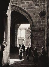 1925 Vintage JERUSALEM Temple People Street ISRAEL Palestine LEHNERT & LANDROCK