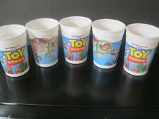 """Toy Story  """"Five Mint & Unused 12 Ounce Plastic Movie Theatre Cups""""    1995"""