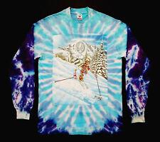 Grateful Dead Shirt T Shirt Vintage 1995 Ski Skiing Mountain Snow Tie Dye GDM L