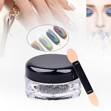Holographic Laser Powder Nail Glitter Rainbow Pigment Manicure Chrome Pigment MT