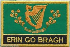 Erin Go Bragh Ireland Flag Embroidered Patch Badge - Sew or Iron on