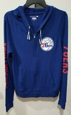 PHILADELPHIA 76ERS~NBA~NEW ERA~WOMEN FULL ZIP HOODIE~BLUE